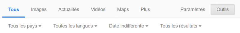 Google onglets recherche