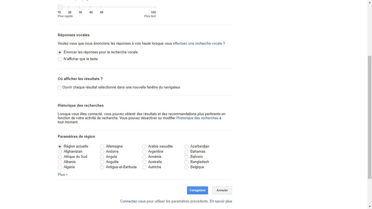 Google réponses vocales