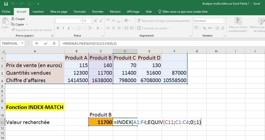 Excel tableur