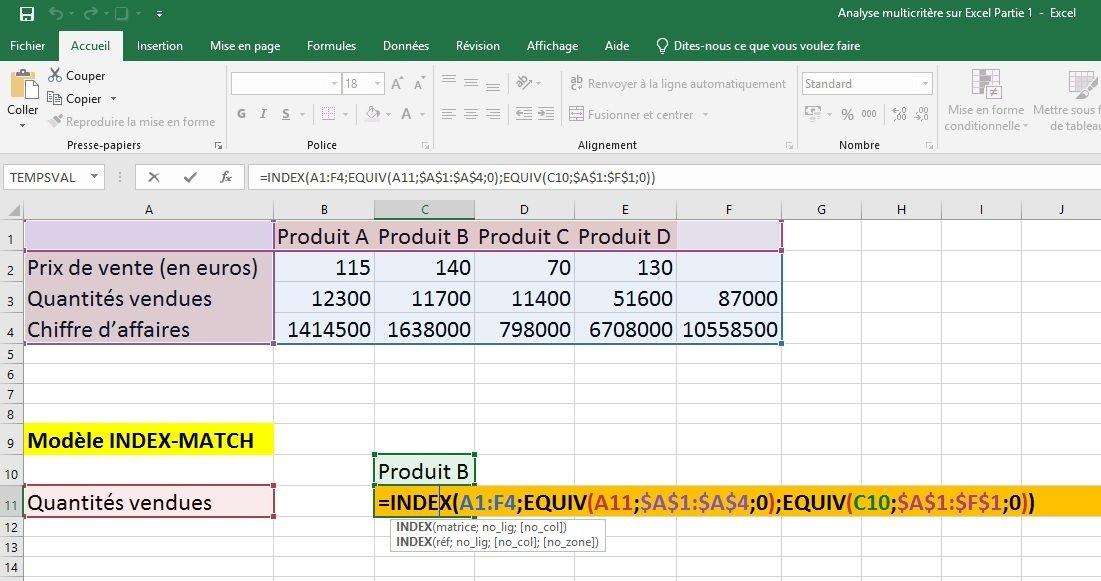 Excel modèle 1