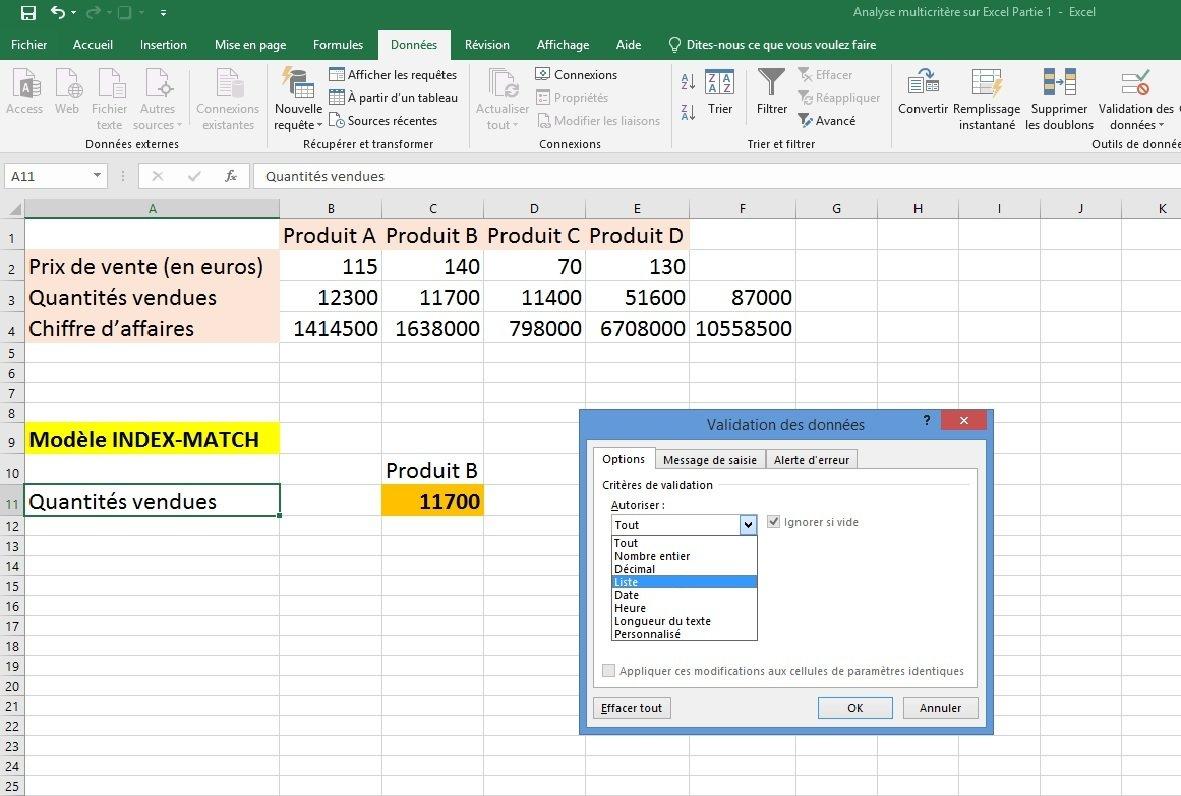 Excel modèle 2