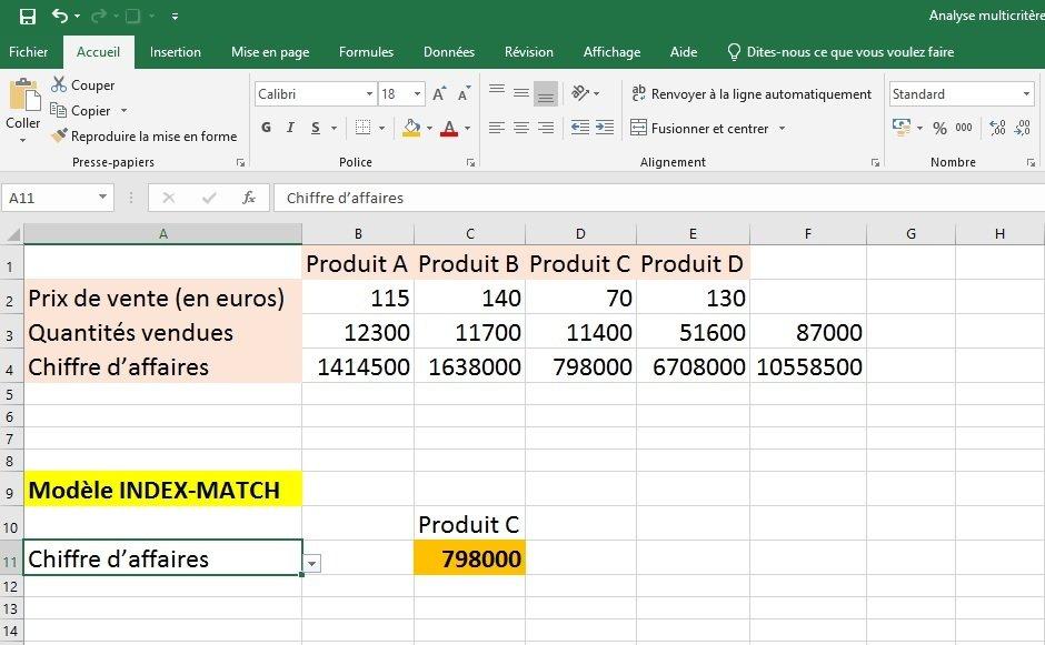 Excel modèle 3