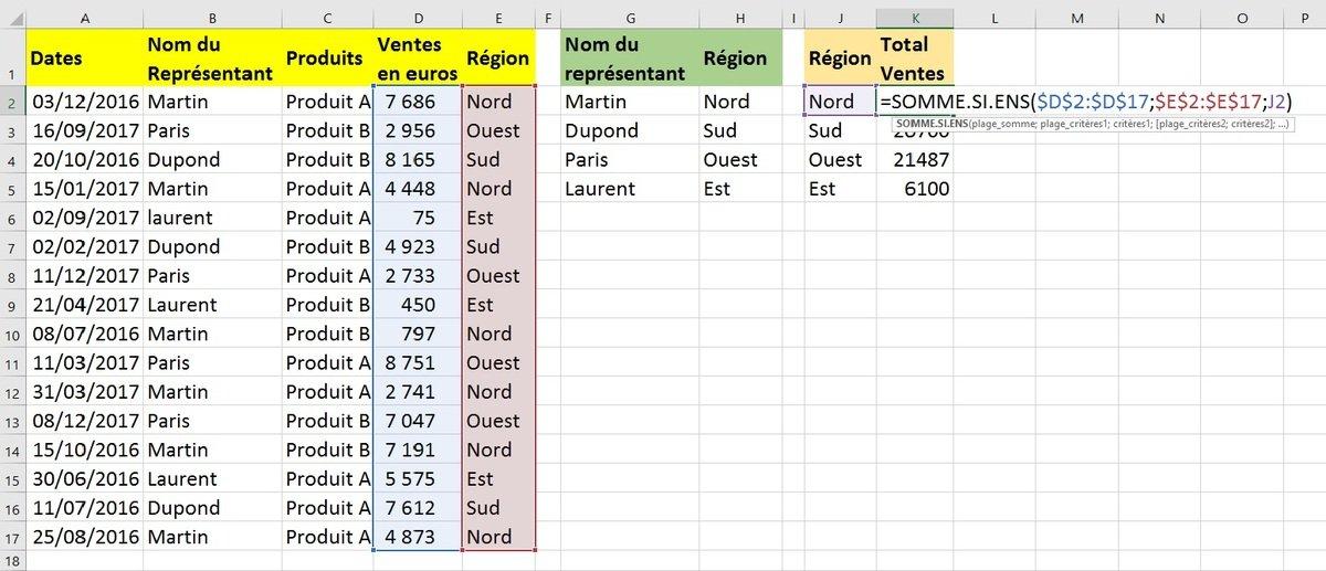 Excel fonction recherche