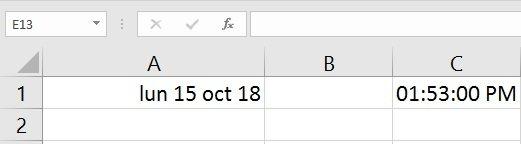 Excel date et heure